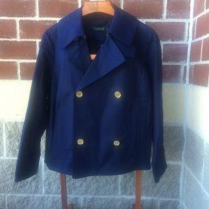 Lauren by Ralph Lauren Navy Blue Blazer 14 W